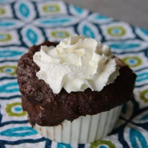 These 1 minute low carb brownies in a mug are amazing! They are the perfect low carb dessert to quickly make for your family!