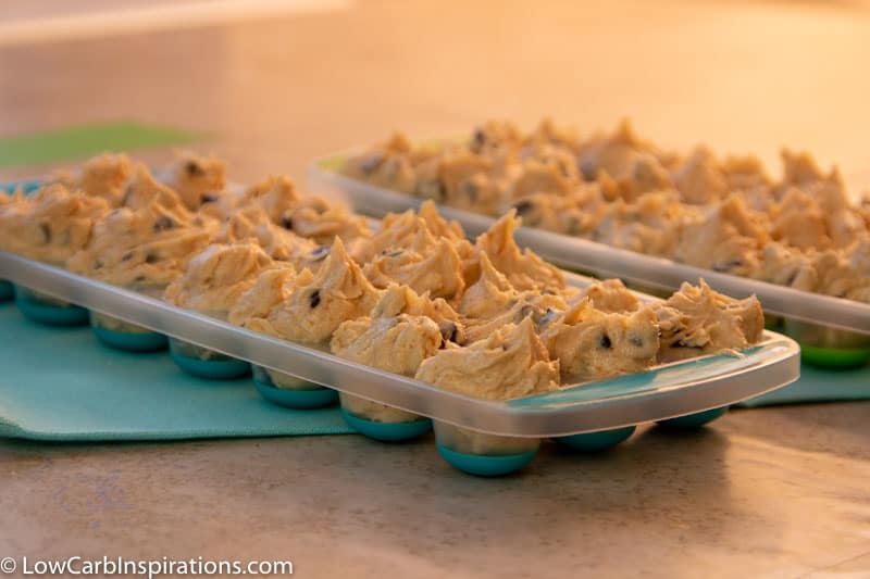 Cookie dough in a tray mold