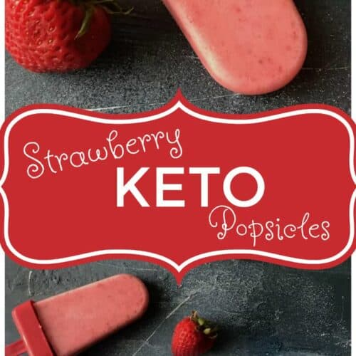 These keto friendly creamy strawberry popsicles are amazing! They are the perfect summer treat for everyone to enjoy, especially if you are on the keto diet!