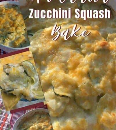 Easy Au Gratin Zucchini Squash Bake Recipe