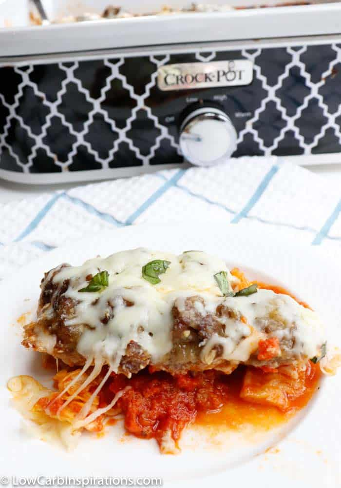 Slow Cooker Keto Meatball Casserole Recipe