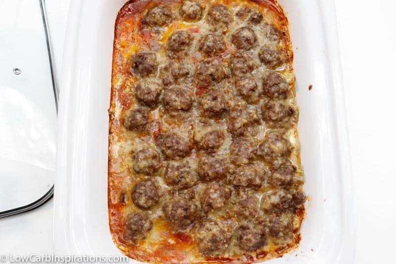 Slow Cooker Keto Meatball Casserole Recipe