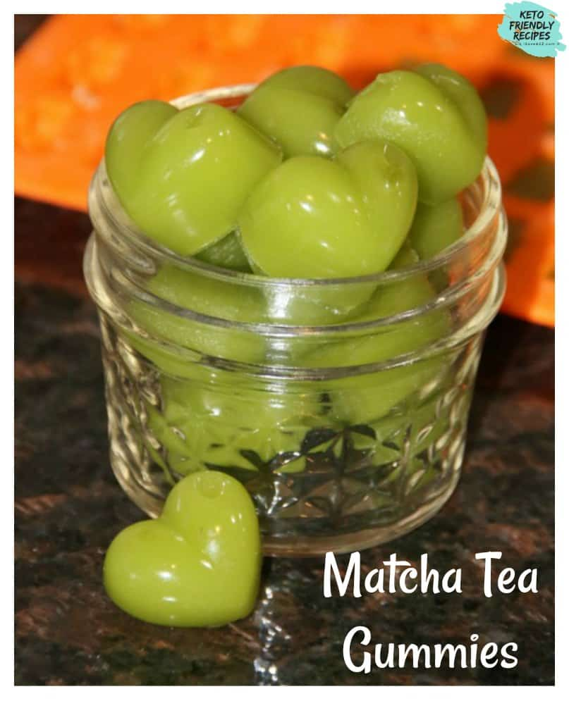 This Sugar Free Gummies Recipe is a MUST TRY! We made Matcha Tea gummies but you can make them any flavor you want. The recipe is simple too! Healthy gummie options that you can make at home.
