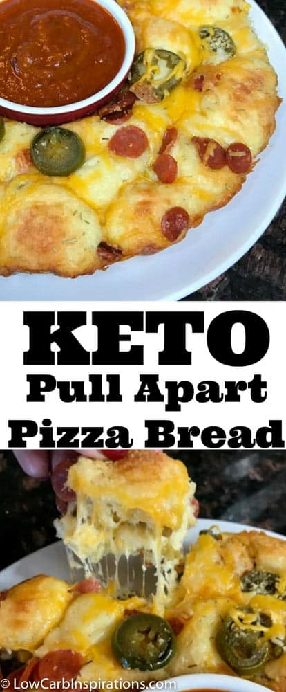 The BEST Low Carb Pull Apart Pizza Bread Recipe