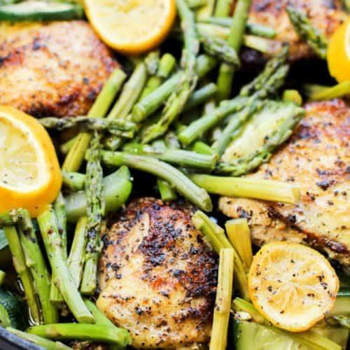 Low Carb Lemon Garlic Chicken Recipe