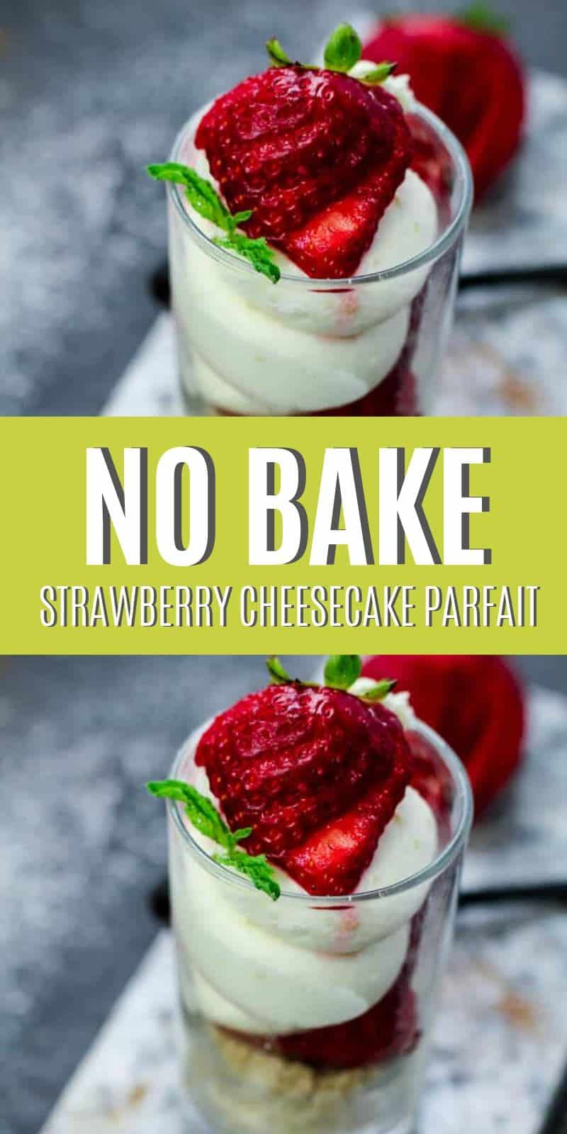 This easy low carb no bake strawberry cheesecake parfait recipe is amazing! It not only tastes delicious, but you are going to love how easy this low carb parfait recipe is to make.