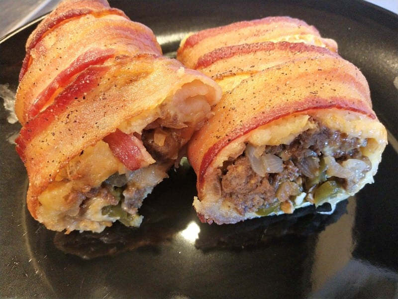 Keto Bacon Wrapped Burrito Recipe