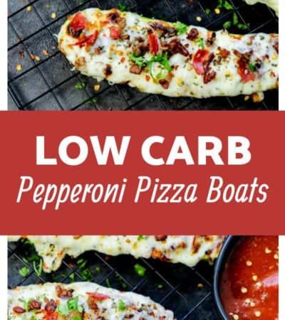 Low Carb Baked Zucchini Pizza Boats