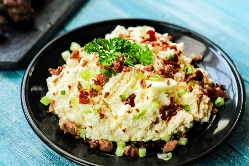 Who is looking for something a little different? Low Carb Loaded Cauliflower will be just the savory addition to your low carb diet that you've been searching for. It's delicious, creamy, and so easy to make. Whether you're cooking for yourself or for a party, this dish will be a hit.