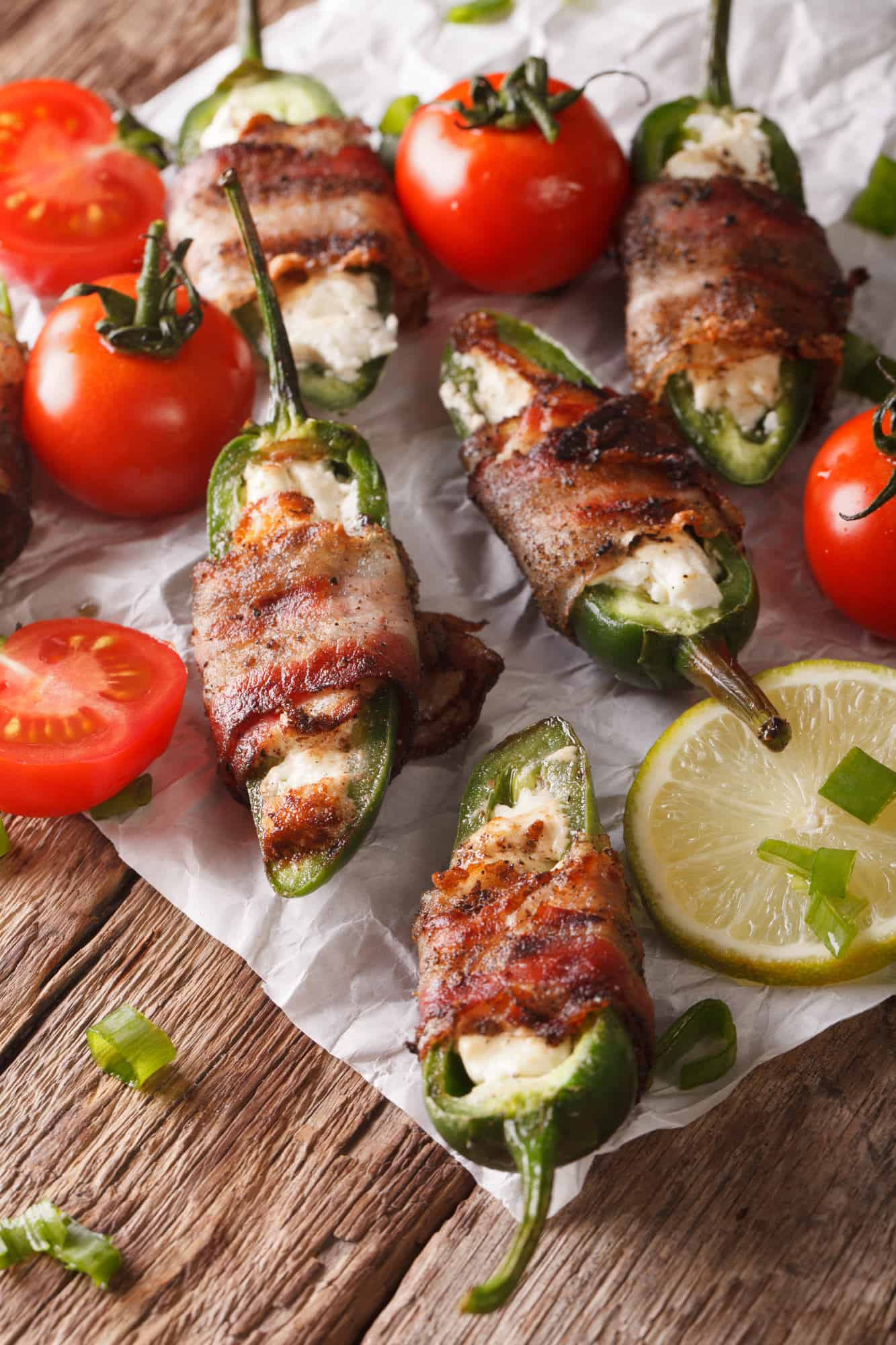 These easy low carb bacon wrapped jalapeno poppers with cream cheese are the perfect snack for the keto diet or your next get together with friends. Must try!
