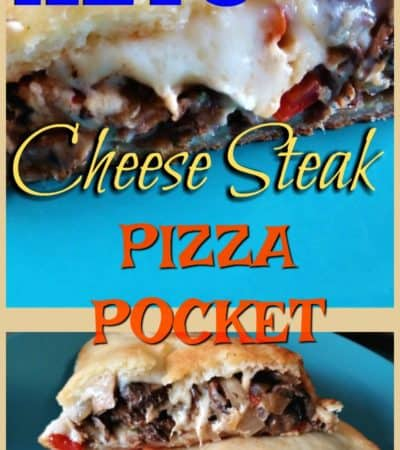 Keto Cheese Steak Pizza Pocket Pinterest