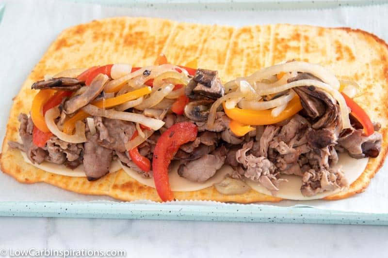 Keto Cheese Steak Pizza Pocket Recipe