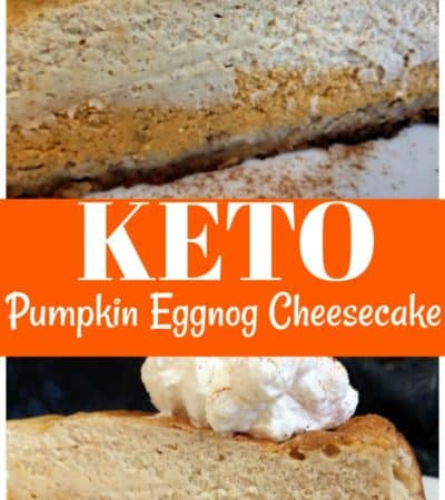 Keto Pumpkin Eggnog Cheesecake Recipe