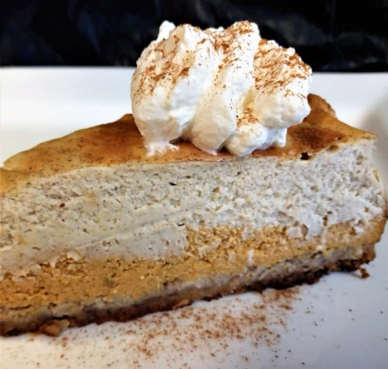 Keto Pumpkin Eggnog Layered Cheesecake Recipe