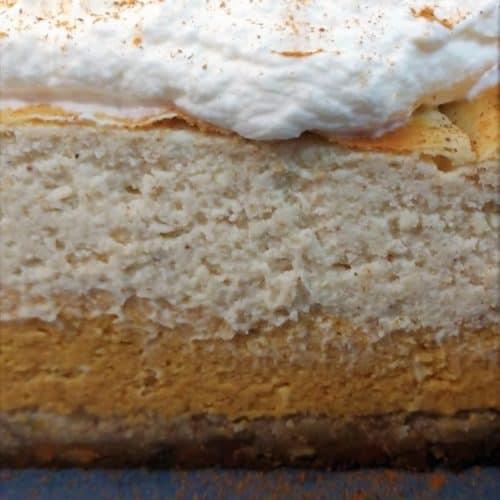 Keto Pumpkin Eggnog Layered Cheesecake Recipe