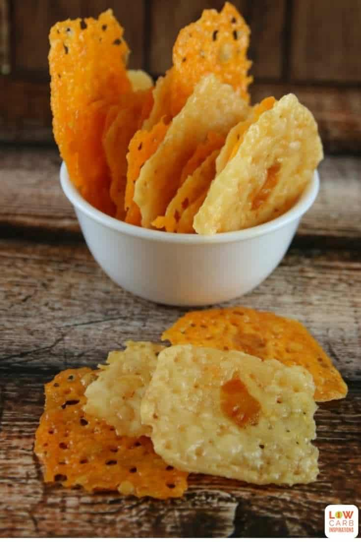 These lazy low carb chips taste amazing and you only need 2 ingredients to make them! Try them today...you won't regret it!