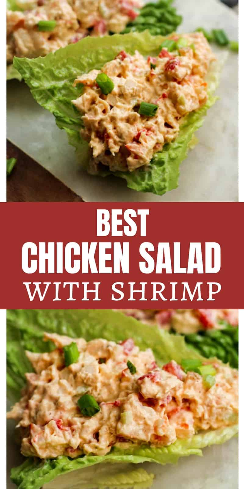 Best Chicken Salad with Shrimp Recipe on Lettuce Boats