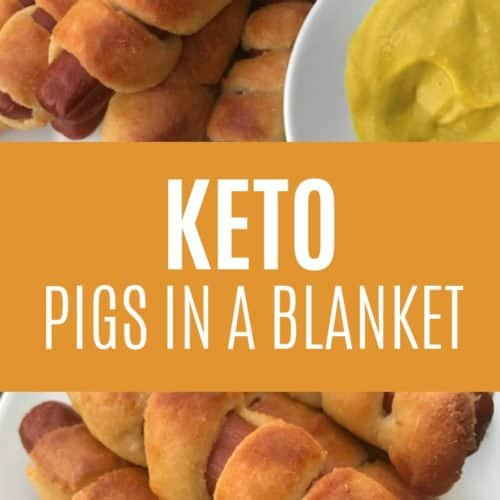 This keto pigs in a blanket recipe made with fat head dough is perfect for a weeknight meal or when you need to get dinner on the table in a hurry! It's really easy to make and tastes delicious too!