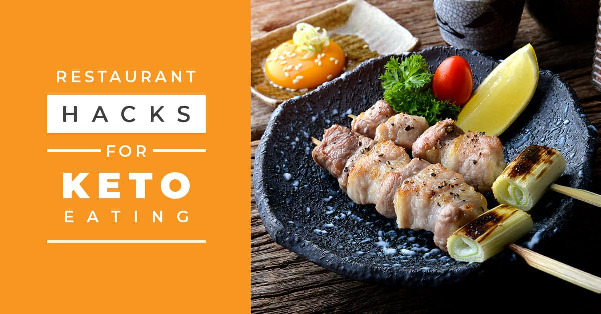 These keto restaurant hacks for dining out will help you continue burning fat while staying in ketosis! You don't want to miss hack #4, it's been a game changer!