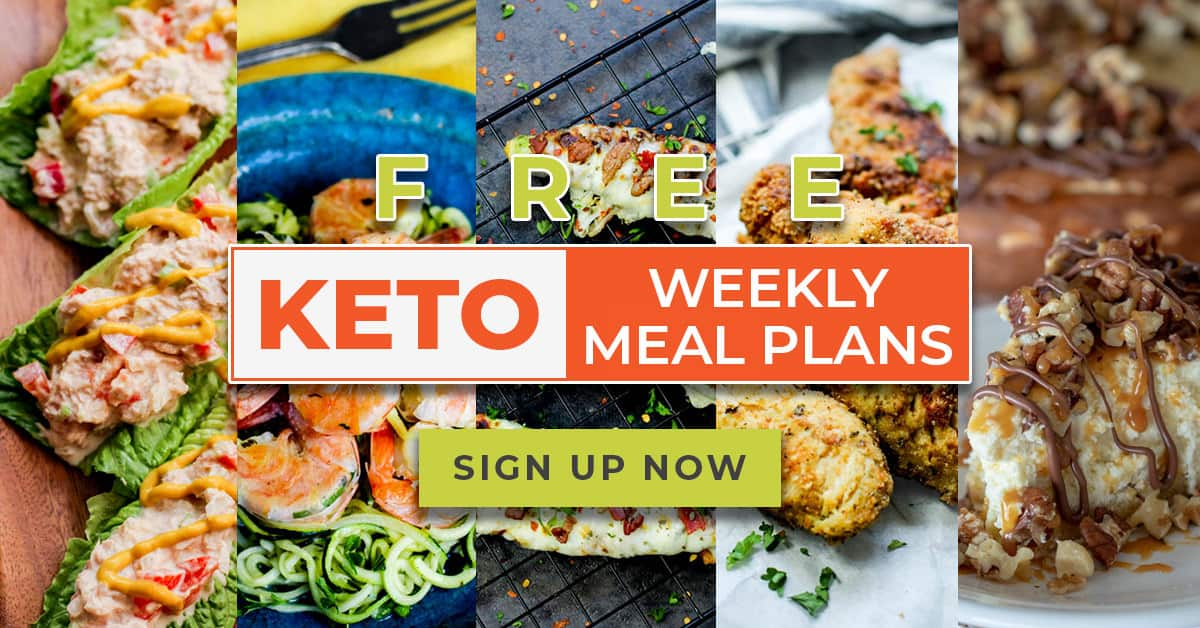Get a free weekly keto meal plan delivered right to your inbox every Friday! Sign up today!