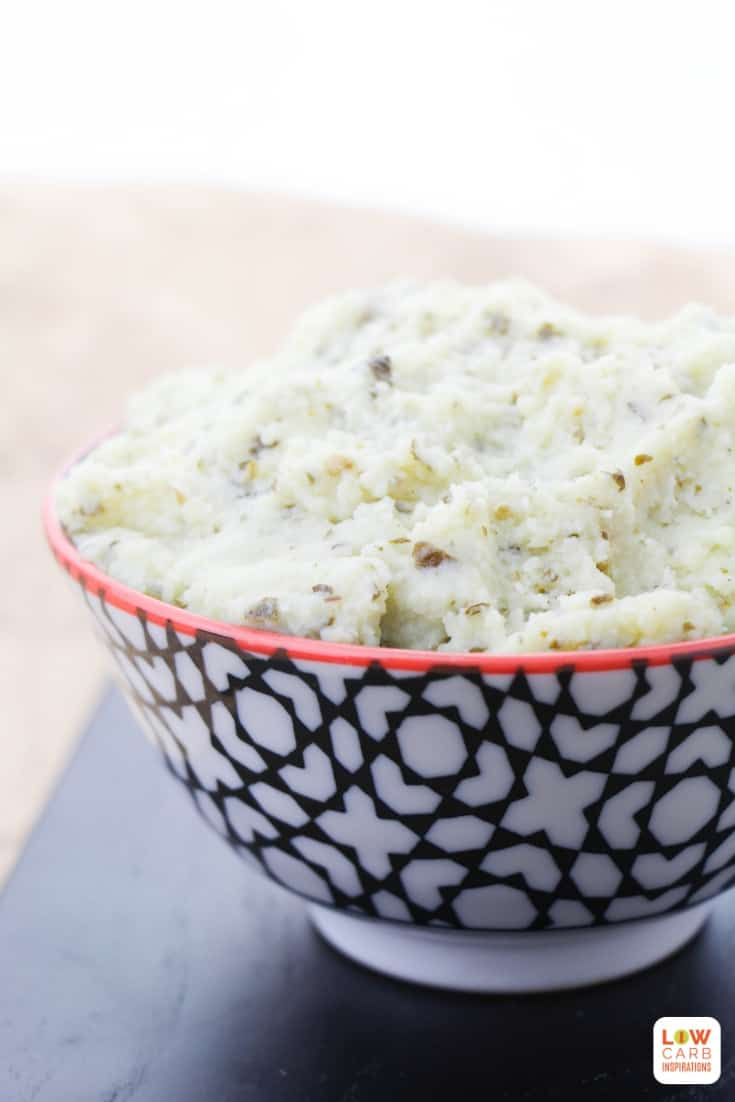 You are going to love our Keto Cauliflower with Pesto recipe. It is flavorful, delicious and the perfect keto side dish to pair with our BBQ Keto Ribs!