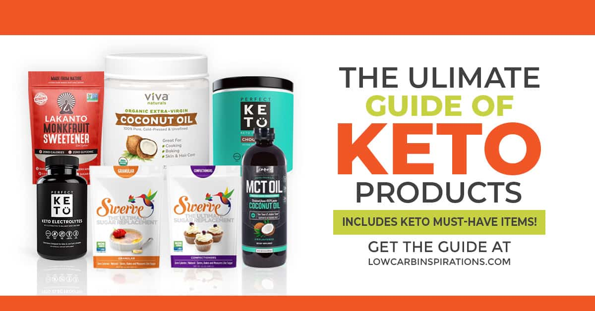 Looking for the best products for the keto diet? Look no further! The ultimate keto guide of products includes must-have items and essentials to get you started on the keto diet!