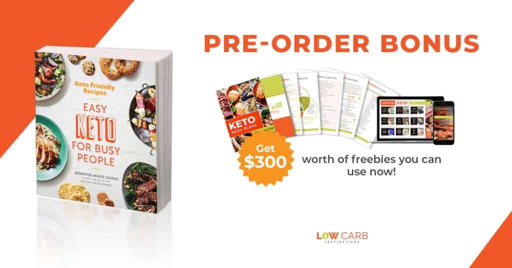 Easy Keto for Busy People Pre-Order Bonus