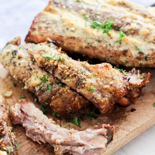 Keto Friendly Oven Baked Garlic Parmesan Ribs Recipe