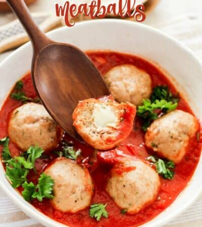 Keto Cheese Stuffed Meatballs