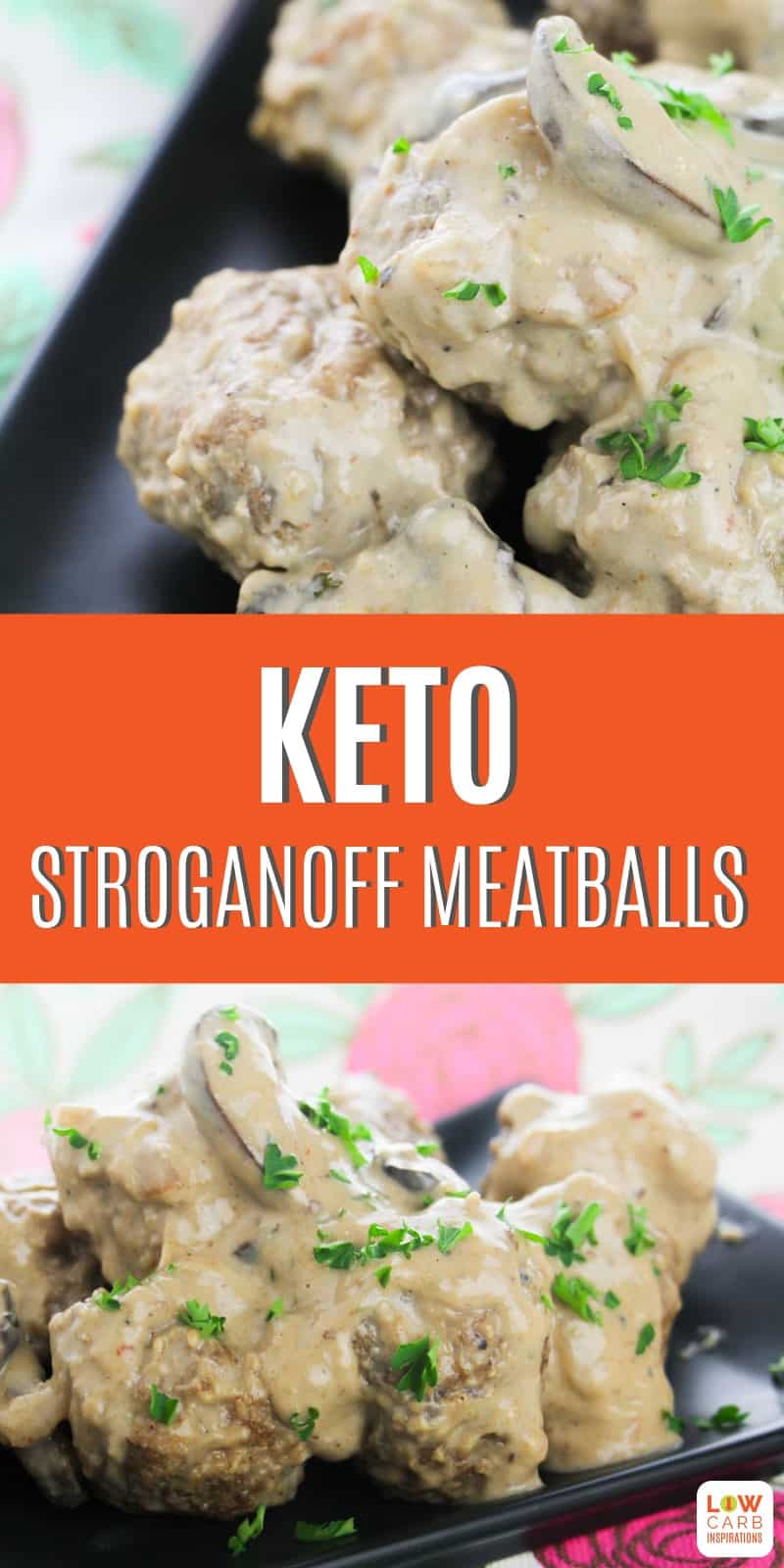 This keto stroganoff meatballs recipe is amazing! You are going to love the flavors and how easy it is to make these for the keto diet.