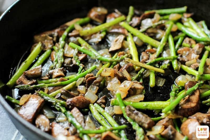 Easy Breakfast Frittata with Lemon, Asparagus, and Mushrooms Recipe