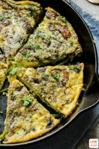 This easy breakfast frittata is packed with so many delicious flavors. The lemon, asparagus, and mushrooms take this ordinary breakfast idea over the top!