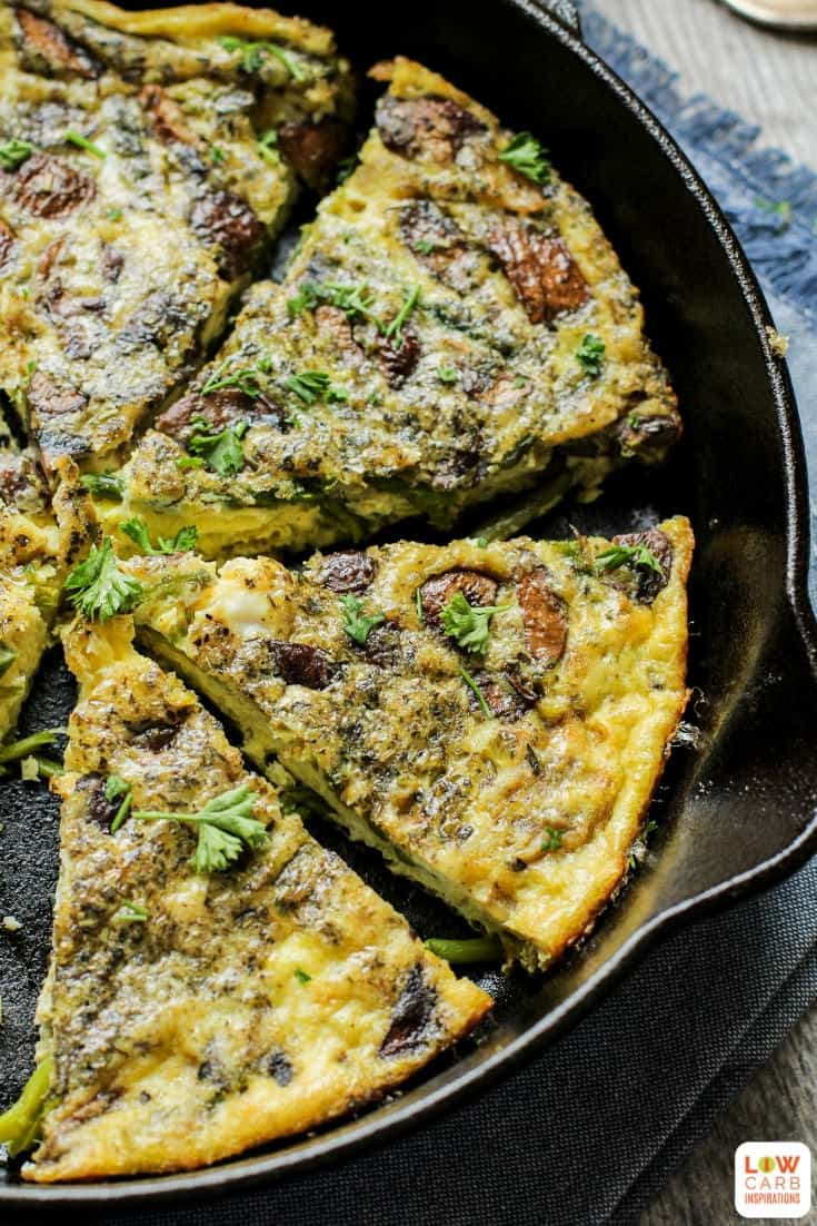 This easy breakfast frittata is packed with so many deliciousflavors. The lemon, asparagus, and mushrooms take this ordinary breakfast idea over the top!
