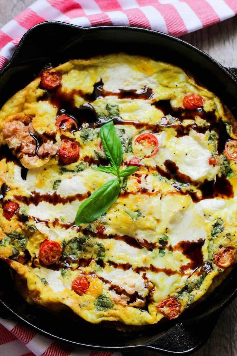 Easy Keto Bruschetta Frittata Recipe