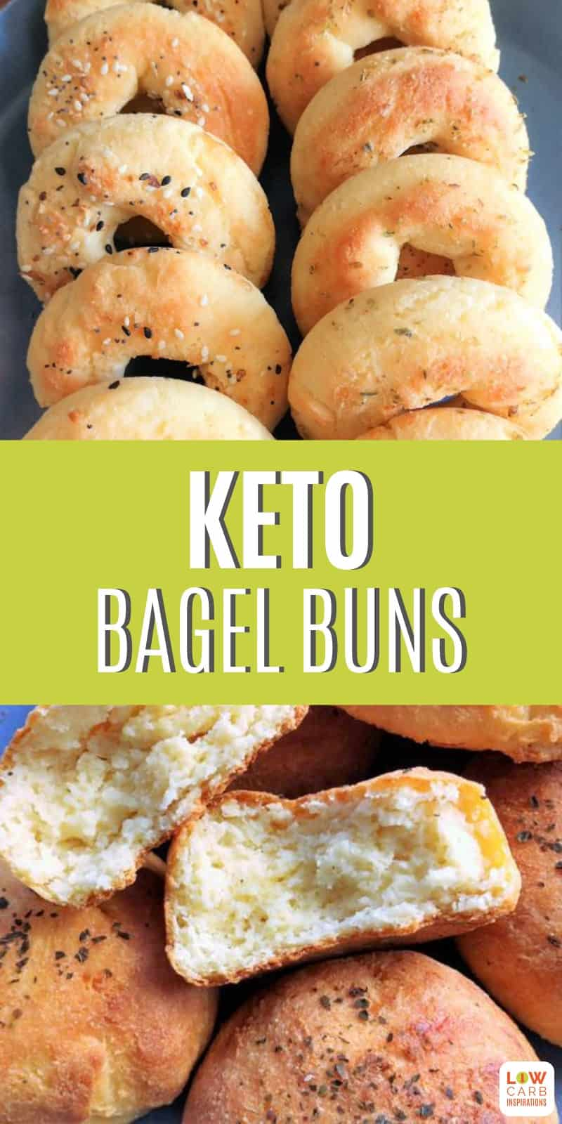 This keto bagel bun with yeast recipe surpasses all the rest, with an amazing texture and delicious bread flavor! These are not eggy or too cheesy, being just what you'll crave for a fantastic bread side added to any meal.