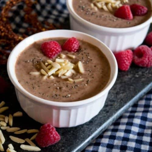 Keto Chocolate Pudding with Chia Seeds Recipe