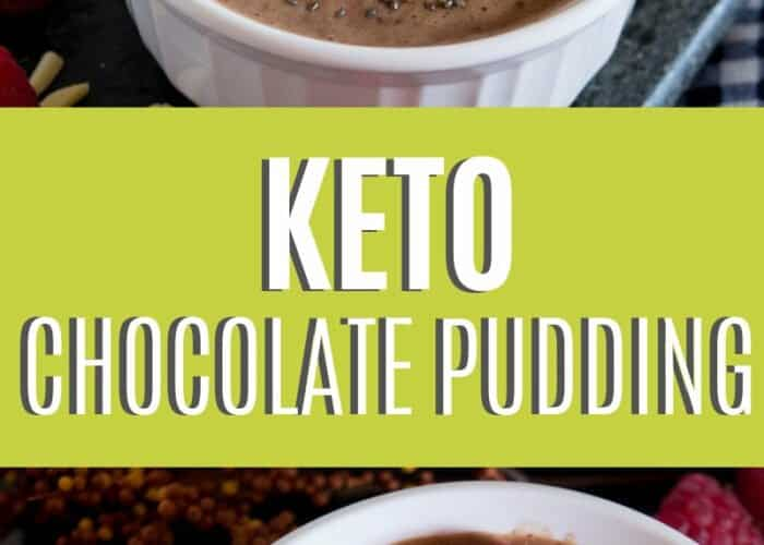 If you are looking for a sweet treat without the loaded carbs, you are going to love this keto chocolate pudding with chia seeds!