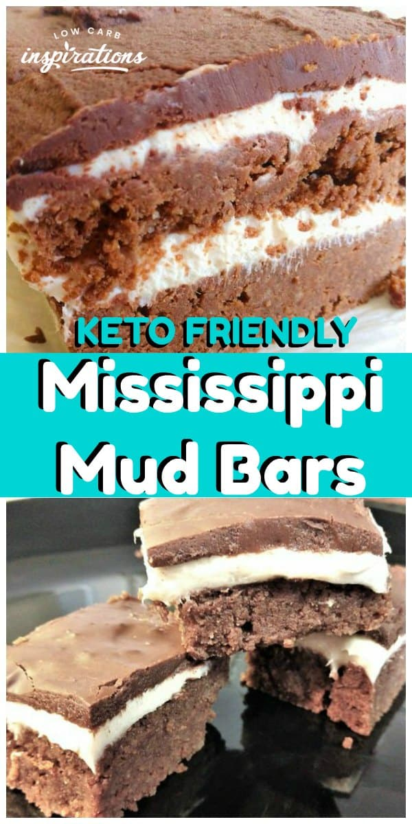 Keto Mississippi Mud Bars Recipe made with Keto Marshmallow Fluff