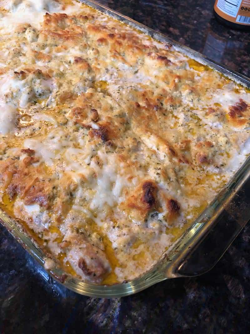 Keto Pesto Chicken Casserole Recipe