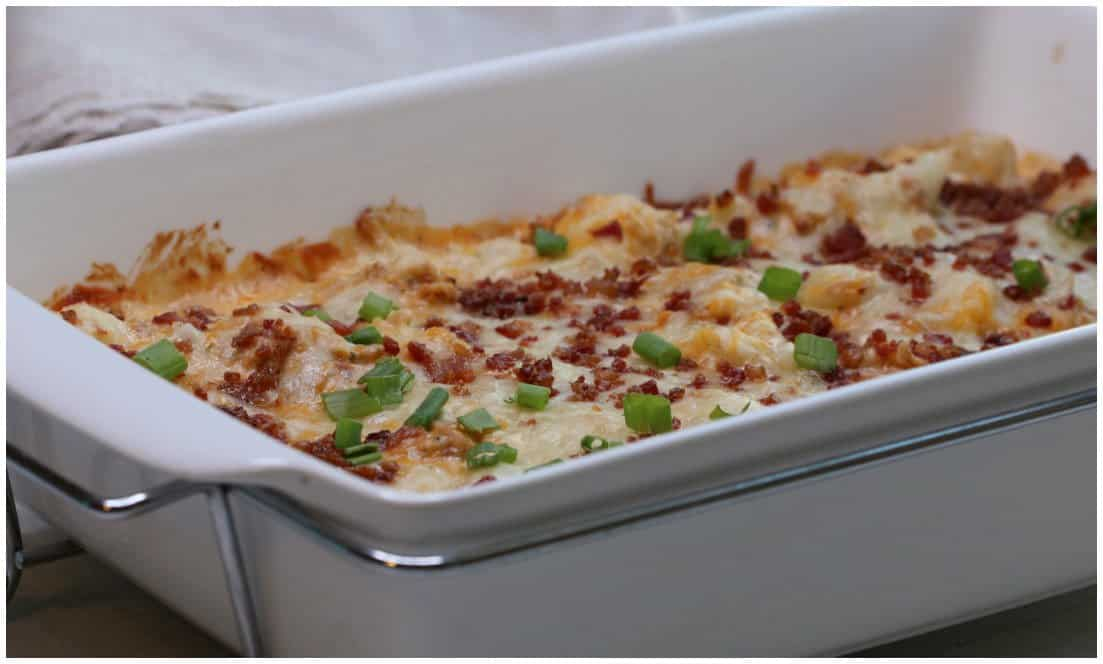 Keto Bacon Ranch Chicken Casserole Recipe