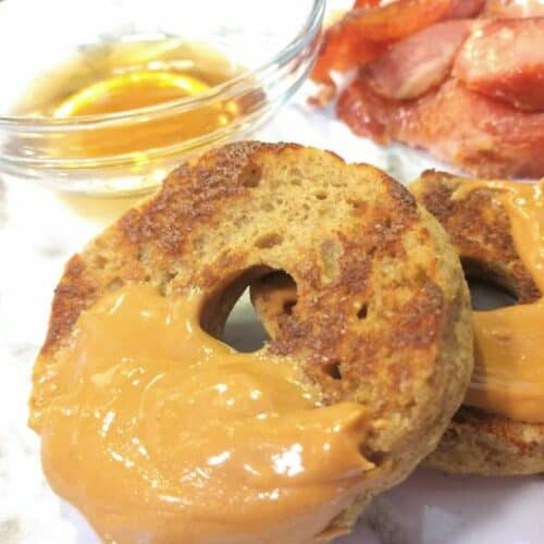 Keto Maple French Toast Bagels Recipe