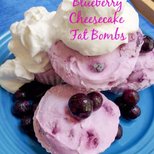 Keto Blueberry Cheesecake Fat Bombs Recipe