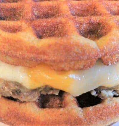 Keto Breakfast Maple Griddle Sandwich Recipe
