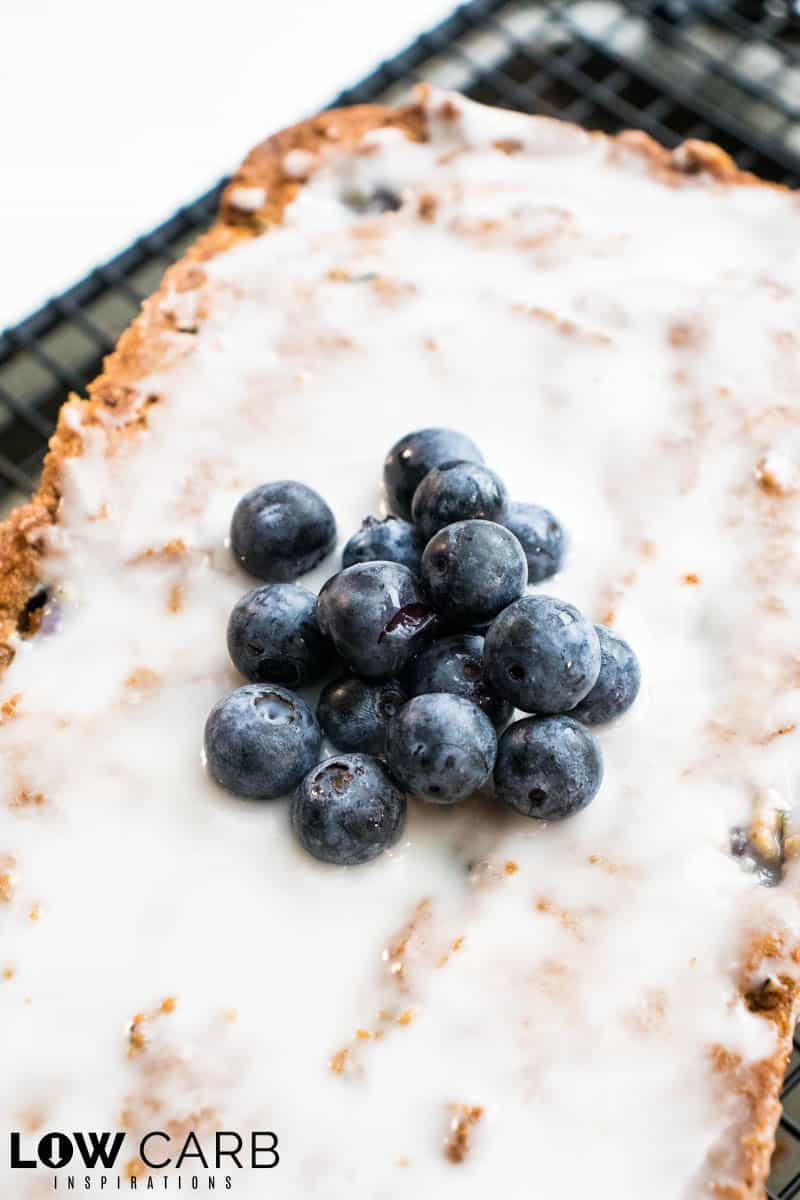 Blueberry Zucchini Bread Recipe with Blueberries on top