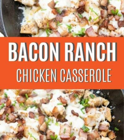 This Cheesy Bacon Ranch Chicken Breasts Casserole Recipe is a quick and easy dinner option for busy weeknights! There is so much flavor packed in one recipe and you are going to love!