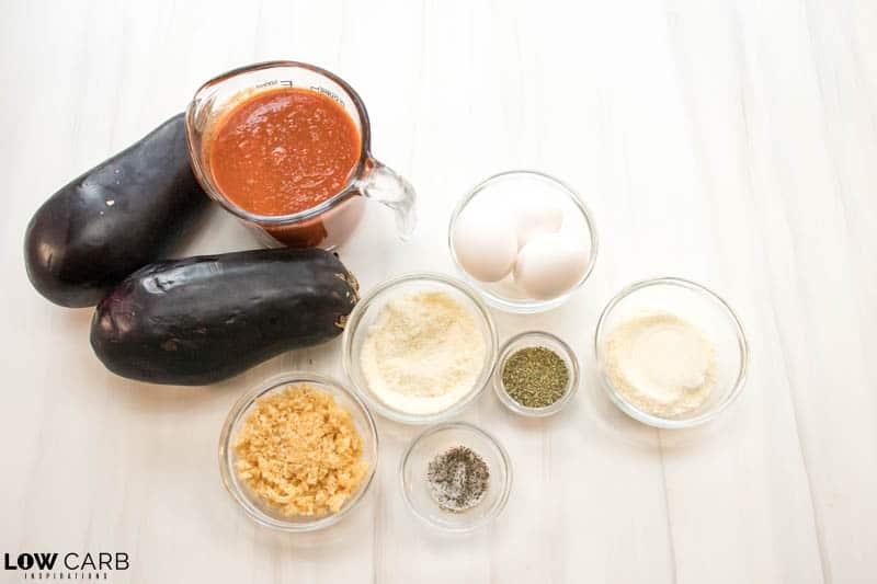 ingredients for keto eggplant parmesan
