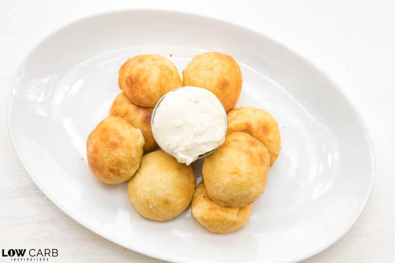 Stuffed Tuna Balls Recipe on a white plate