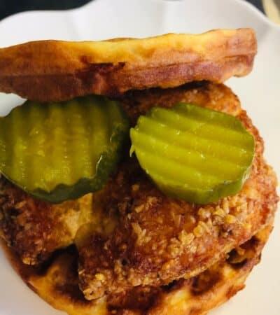 Chickfila Copycat Chaffle sandwich