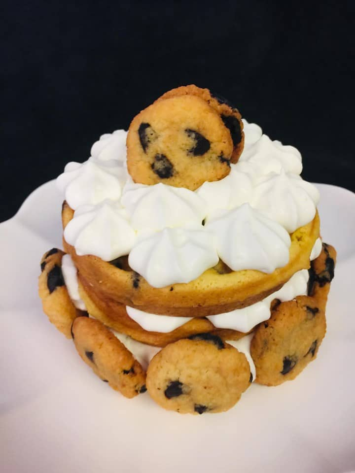 Chocolate Chip Cookie Chaffle Cake Recipe