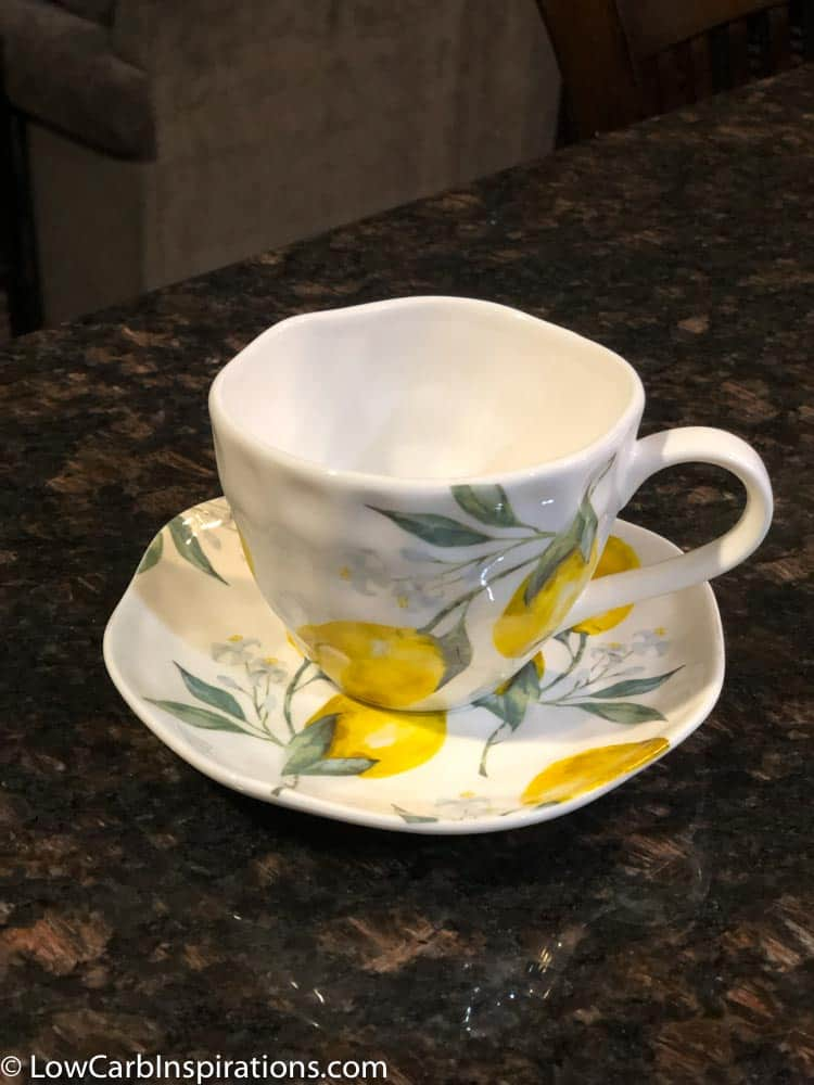 DIY Chaffle Cake Stand using a tea cup
